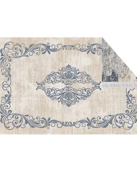 Kondela Obojstranný koberec vzor/modrá 180x270 GAZAN