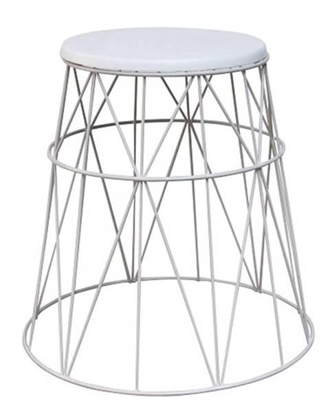 Tempo Kondela Príručný stolík biela LAVON