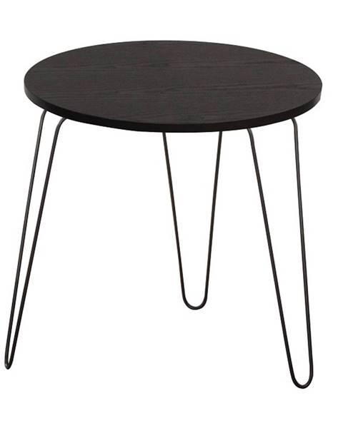Tempo Kondela Príručný stolík čierny dub/čierna RONIN