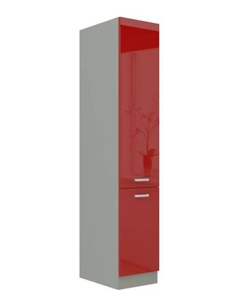 Tempo Kondela Skrinka potravinová vysoká červený vysoký lesk PRADO 40 DK-210 2F poškodený tovar