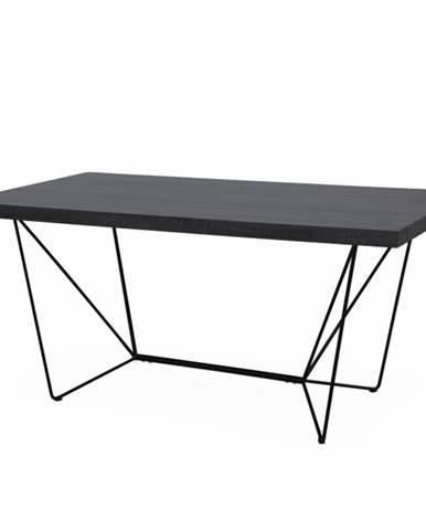 Jedálenský stôl sivá/čierna PALMER poškodený tovar