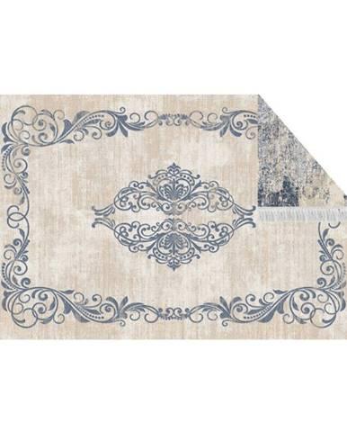 Obojstranný koberec vzor/modrá 80x150 GAZAN