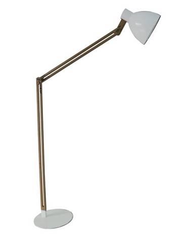 Stojacia lampa hliník biela/drevo CINDA  TYP 19 YF6044
