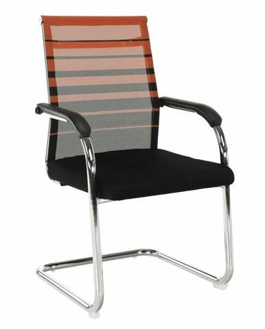Zasadacia stolička oranžová/čierna ESIN