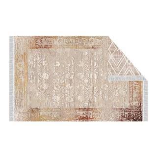 Obojstranný koberec béžová/vzor 80x150 NESRIN
