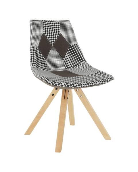 Tempo Kondela Dizajnová stolička látka patchwork PEPITO NEW TYP 10 rozbalený tovar