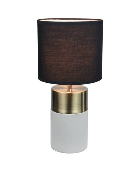 Kondela Stolná lampa svetlosivá/čierna QENNY TYP 20 LT8371