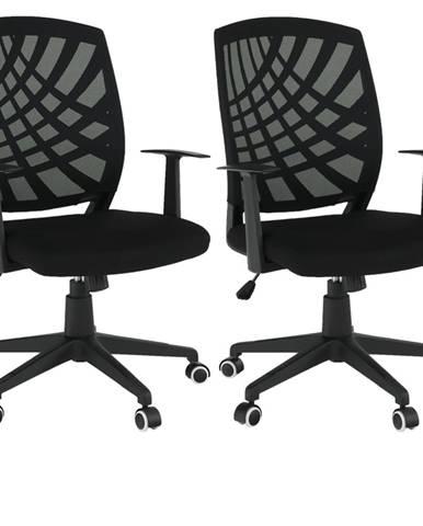 2 kusy kancelárske kreslo čierna VIDAL