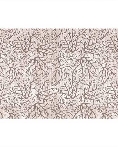 Koberec béžová/vzor konár 80x150 ARILA