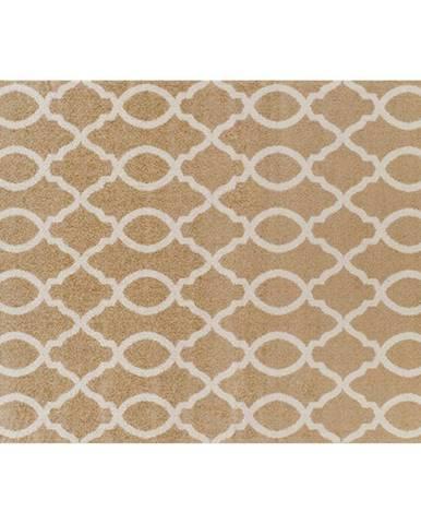 Koberec béžová/vzor v slonovinovej 160x235 NALA