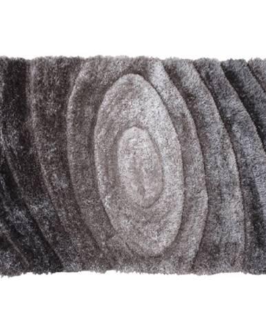 Koberec sivý vzor 80x150 VANJA
