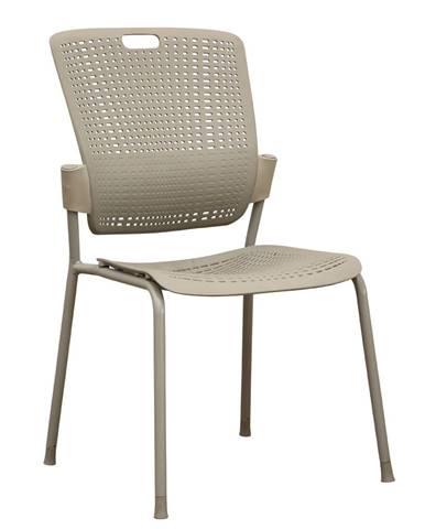 Stohovateľná stolička sivá NERGIS