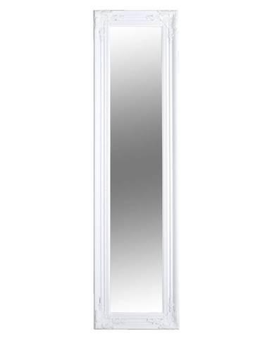 Zrkadlo drevený rám bielej farby MALKIA TYP 8