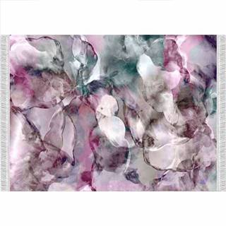 Koberec ružová/zelená/krémová/vzor 120x180 DELILA