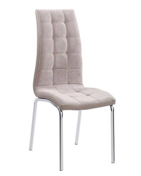 Kondela Jedálenská stolička béžová/chróm GERDA NEW