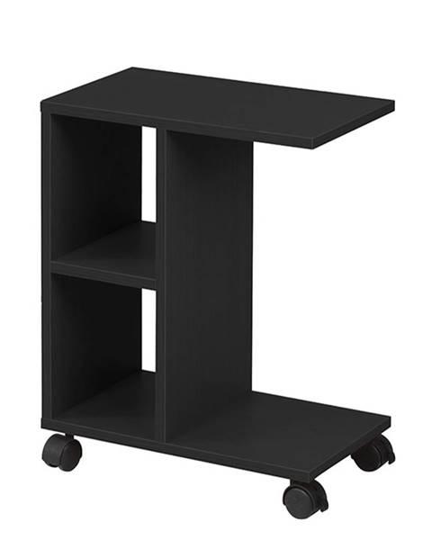 Kondela Príručný stolík čierna ABBAS NEW