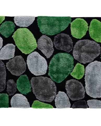 Koberec zelená/sivá/čierna 70x210 PEBBLE TYP 1