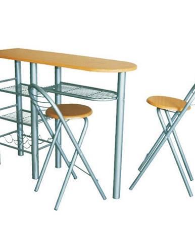 Komplet barový stôl + 2 stoličky buk BOXER