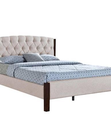 Manželská posteľ piesková/tmavý orech 160x200 ELENA NEW
