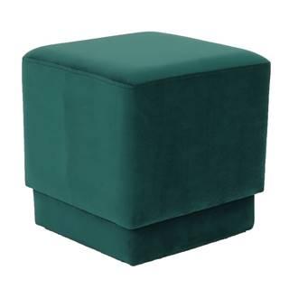 Taburet smaragdová Velvet látka ALIMA