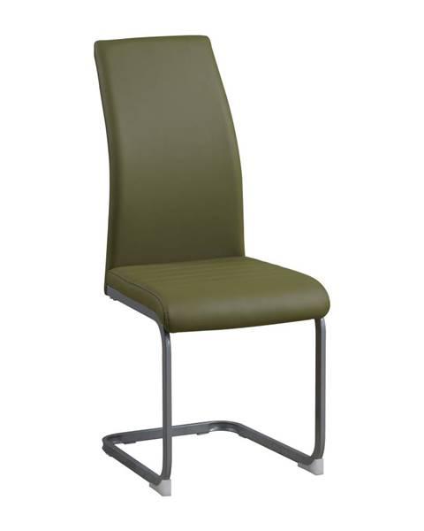 Kondela Jedálenská stolička olivovozelená/sivá NOBATA
