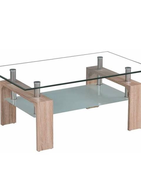 Tempo Kondela Konferenčný stolík dub sonoma/sklo LIBOR NEW