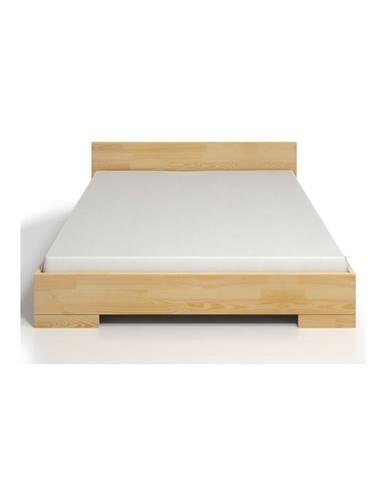 Dvojlôžková posteľ z borovicového dreva s úložným priestorom SKANDICA Spectrum, 200×200cm