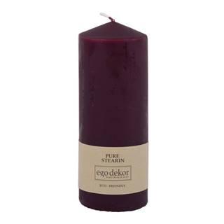 Vínovočervená sviečka Eco candles by Ego dekor Top, doba horenia 50 h