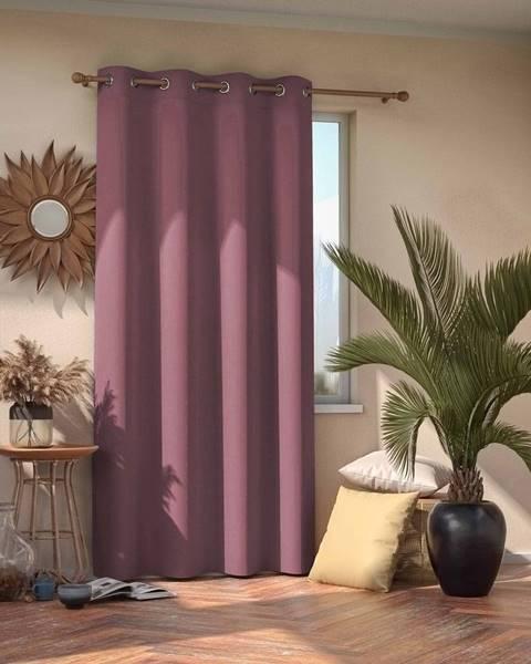 AmeliaHome Ružovofialový tieniaci záves AmeliaHome Eyelets Mauve, 140 × 245 cm
