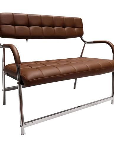 2-miestna lavica do čakární hnedá/chróm ILKIN