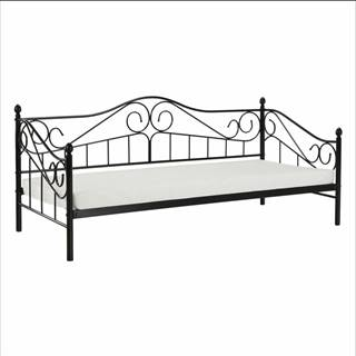 Kovová posteľ čierna 90x200 DAINA