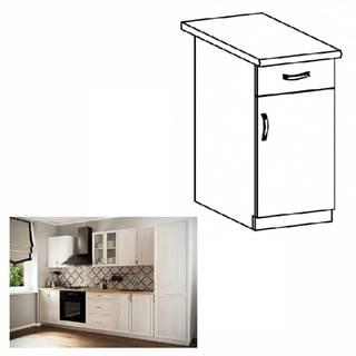 Spodná skrinka D40S1 so šuplíkom pravá biela/sosna Andersen SICILIA