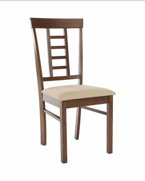 Tempo Kondela Jedálenská stolička orech/béžová OLEG NEW rozbalený tovar