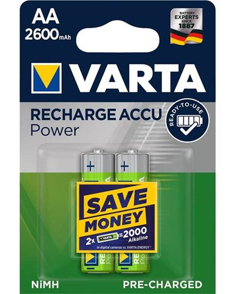 Varta Batéria nabíjacie Varta Rechargeable Accu AA, HR06, 2600mAh, Ni-MH,