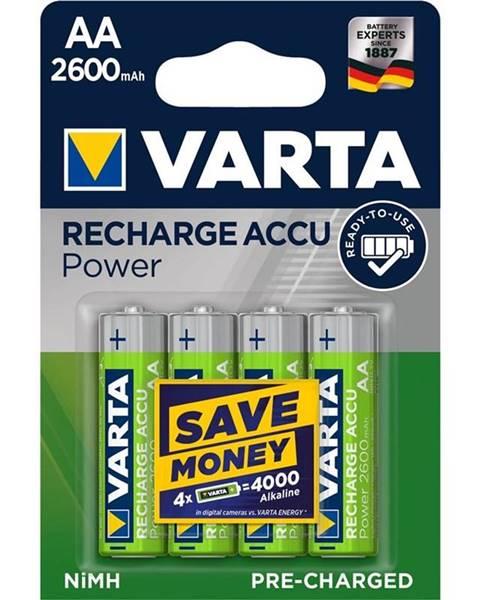 Varta Batéria nabíjacie Varta Power, HR06, AA, 2600mAh, Ni-MH, blistr 4ks