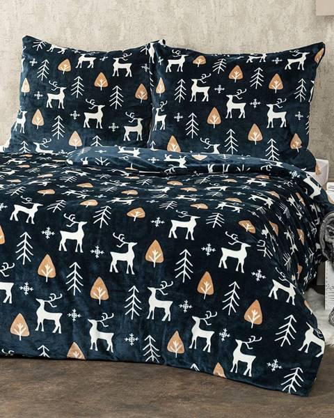 4Home 4Home obliečky mikroflanel Nordic Deer, 140 x 220 cm, 70 x 90 cm