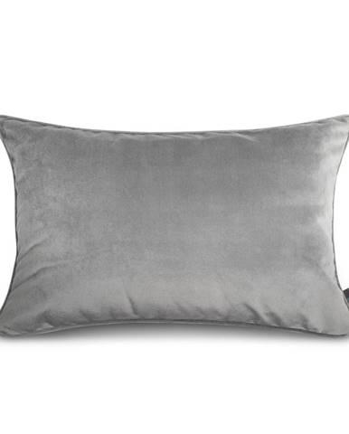 Sivá obliečka na vankúš WeLoveBeds Silver, 40 × 60 cm
