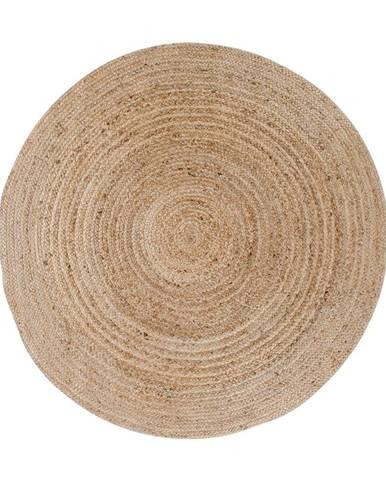 Svetlohnedý okrúhly koberec HoNordic Bombay, ø 150 cm