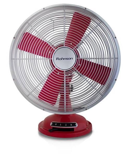 ROHNSON Ventilátor stolový Rohnson R-866 červený/kovov