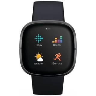 Inteligentné hodinky Fitbit Sense - Carbon/Graphite Stainless Steel
