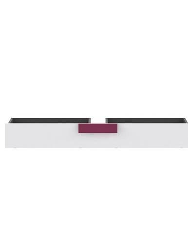 Úložný priestor pod posteľ sivá/biela/fialová LOBETE 83