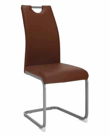 Jedálenská stolička hnedá DEKOMA rozbalený tovar