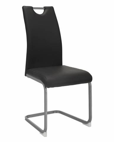 Jedálenská stolička tmavosivá DEKOMA rozbalený tovar
