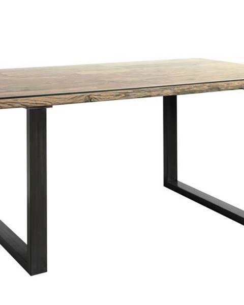Sconto Jedálenský stôl CITY prírodná akácia/sivá