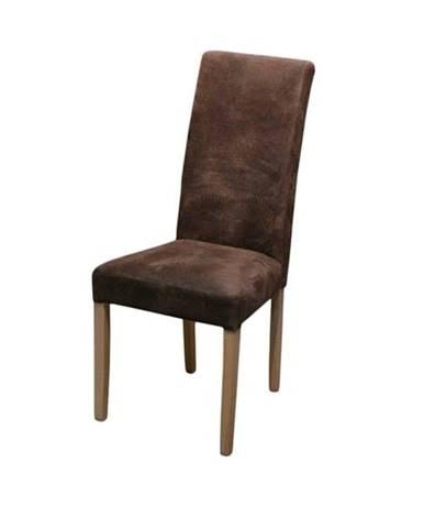 Jedálenská stolička CAPRICE 6 dub sonoma/hnedá
