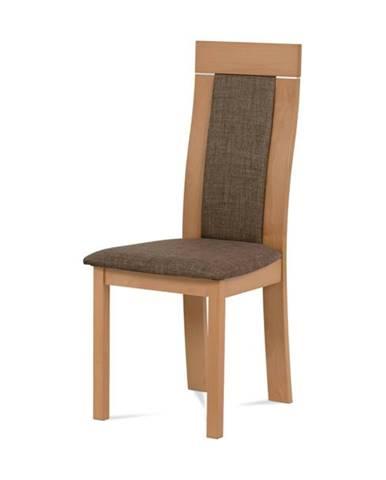 Jedálenská stolička ELENA buk/tmavohnedá