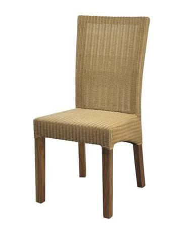 Jedálenská stolička KAYK drevo bau jan/hnedá