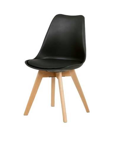 Jedálenská stolička JULIE čierna