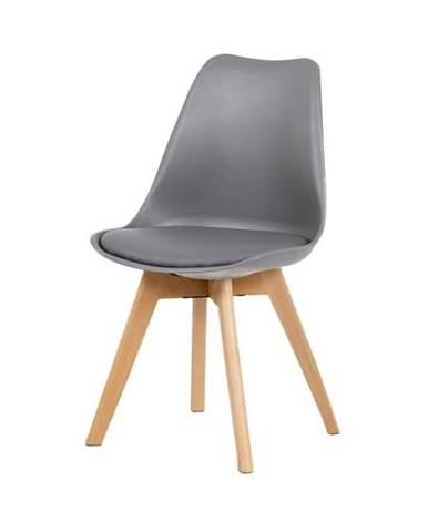 Jedálenská stolička JULIE sivá