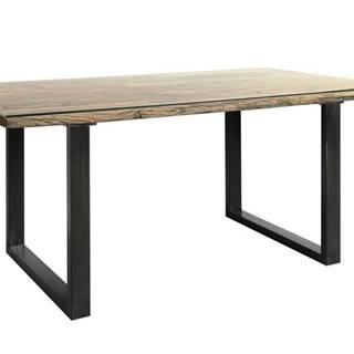 Jedálenský stôl CITY prírodná akácia/sivá